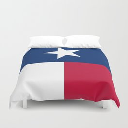State flag of Texas, official banner orientation Duvet Cover