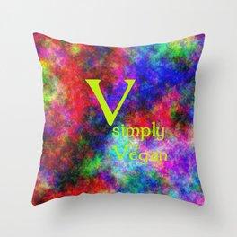 ganz einfach Vegan (A7 B0150) Throw Pillow