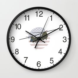 Military CH-47 Chinook Helicopter Wall Clock