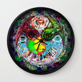 Life on another planet Wall Clock