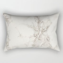 Classic Beige and White Marble Natural Stone Veining Quartz Rectangular Pillow