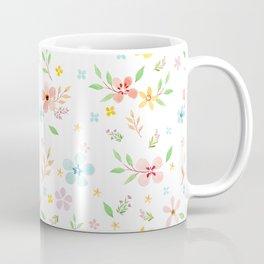 Botanical FLower Pink Pattern Coffee Mug