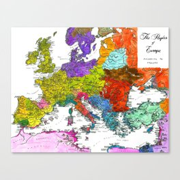 The Peoples of Europe According to Ptolemy Canvas Print