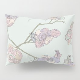 BIRDIE BIRD // Green Pillow Sham