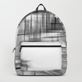 pencil drawing buildings in the city in black and white Backpack