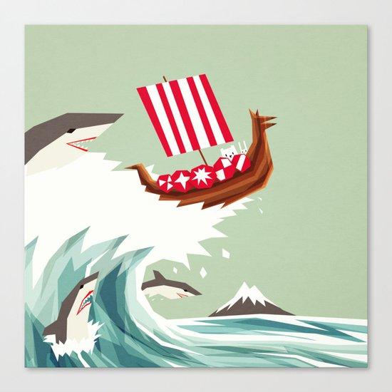 Sharkwave Canvas Print