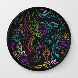psychedelic pattern Wall Clock