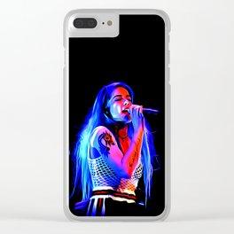Halsey - Celebrity Paint Art Clear iPhone Case