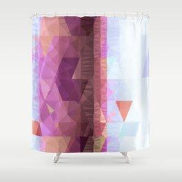Lavender Purple Abstract Geometric Triangle Polyglen Wallart Illustration Shower Curtain