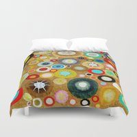 contemporary Duvet Covers featuring Contemporary Circles by Ruth Fitta Schulz