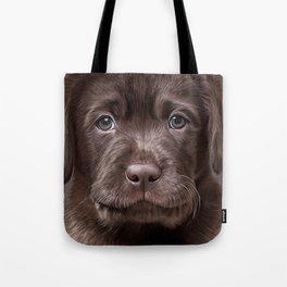 Drawing puppy Labrador Tote Bag