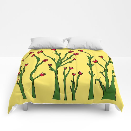 Long flowers Comforters