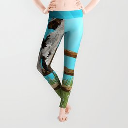 The Vanner Horse On a Heavenly Field of Daisies Leggings