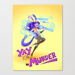 Yay For Murder Canvas Print
