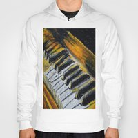 piano Hoodies featuring Piano by Renny Hendra