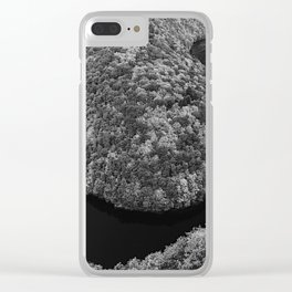 Czech landscape with meander of river Vltava Clear iPhone Case
