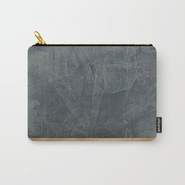 Slate Gray Stucco w Shiny Copper Metallic Trim - Faux Finishes - Rustic Glam Carry-All Pouch