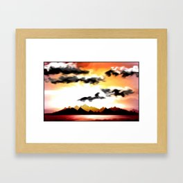 Trauminsel. Framed Art Print