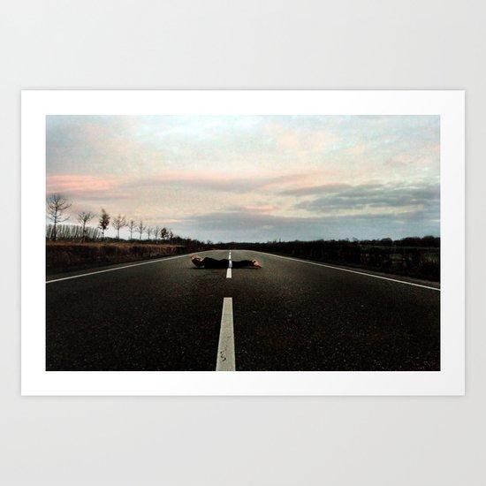 On the Road.... Art Print