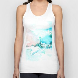 Cotton mountains -abstract watercolor Unisex Tank Top