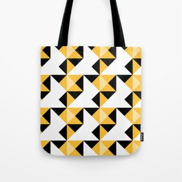 A simple geometric pattern . Triangles . 3 Tote Bag