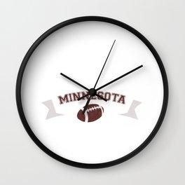 Just a Baller from Minnesota Football Player Wall Clock