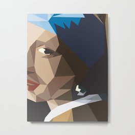 Girl with pearl earring Metal Print