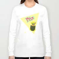 pineapple Long Sleeve T-shirts featuring PINEAPPLE by Nika