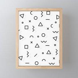 MINIMAL + MONOCHROME GEOMETRIC PATTERN Framed Mini Art Print