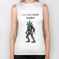 master chief Biker Tanks featuring Master Kief (Chief) by ThingsStonersLove