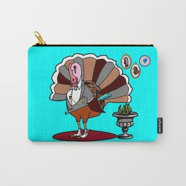 A Thanksgiving Dressed Turkey with a Rifle Carry-All Pouch