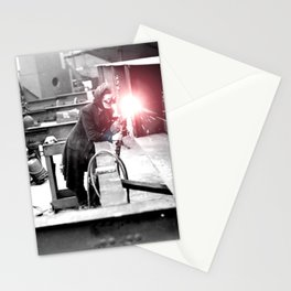 Vintage Female Welder / Oxy-Fuel Cutter Stationery Cards