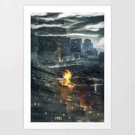 That time i burned a building down Art Print
