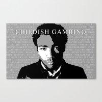 childish gambino Canvas Prints featuring Childish Gambino by Abstractdesigns