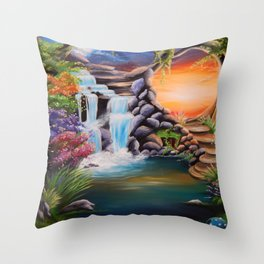 The first step Throw Pillow