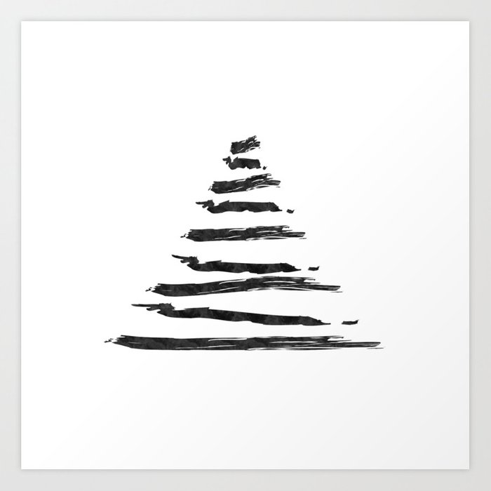 Modern Christmas Trees.Modern Christmas Tree Art Print By Newmodernfemme