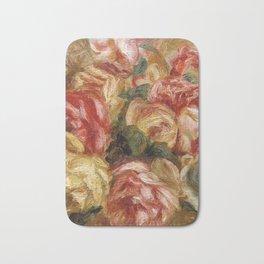"""Auguste Renoir """"Roses dans un vase de Sèvres"""" Bath Mat"""
