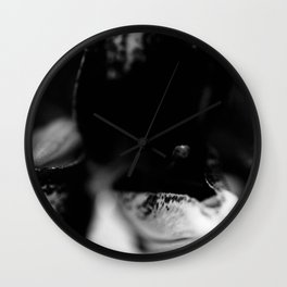 Lillies in Black and White Wall Clock