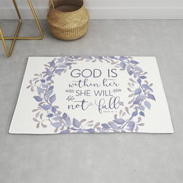 Christian Bible Verse Quote - Psalm 46-5 Rug