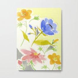 Blue Windflower Metal Print