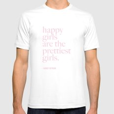 Happy Girl Pretty Girls MEDIUM White Mens Fitted Tee