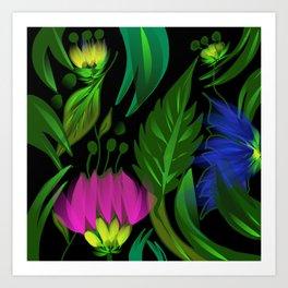 Floral,tropical design Art Print