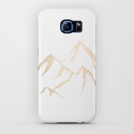 Adventure White Gold Mountains iPhone Case