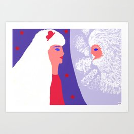 North wind and Phaethoussa Art Print