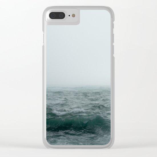 Choppy Seas Clear iPhone Case