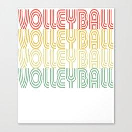 Volleyball Vintage Design Canvas Print