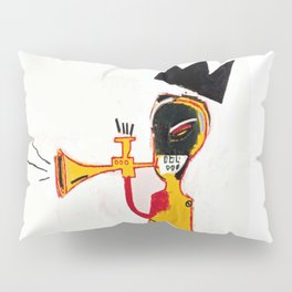 Trumpet Homage to Basquiat Pillow Sham