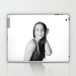 Halftone dot portrait of woman Laptop & iPad Skin