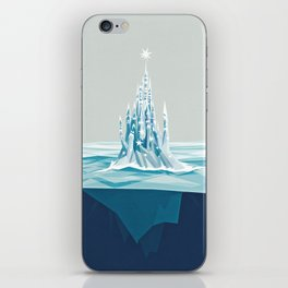 Iceberg castle iPhone Skin
