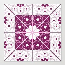 Tudor Rose Purple Canvas Print